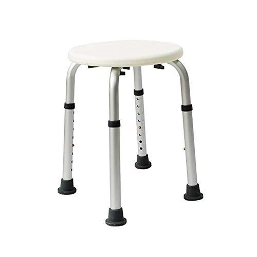 ZWH-Shower Bench Bathroom Shower Stool,Non-Slip Bathing Assistant for The Elderly/Pregnant Women,Safe Load Capacity 158kg,8 Height Adjustable Shower Chair