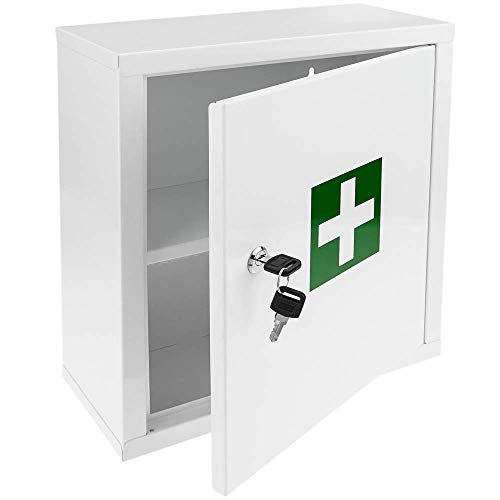 PrimeMatik - Medikamentenschrank Stahl. Medizinschrank Arzneischrank Metall Wandschrank 322 x 140 x 361 mm