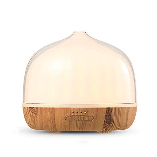 QDF Difusor de Aceite de Aromaterapia de 500 ml, con Humidificadores de Modos de Niebla Ajustables, Apagado Automático, 7 Luces LED de Colores, para el Hogar, Yoga, Oficina, SPA, Dormitorio