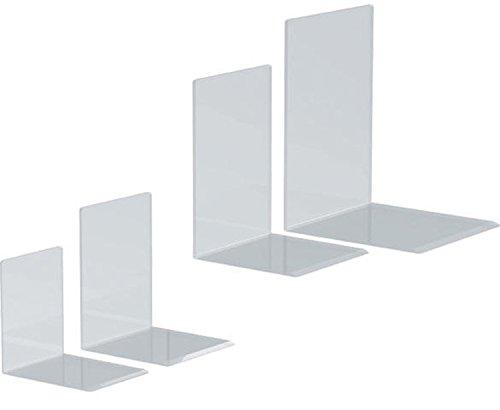 Maul Buchstützen 10 x 10 x 13 cm Acryl VE=2 Stück (10 x 10 x 13 cm | 5 Paar = 10 Stück)
