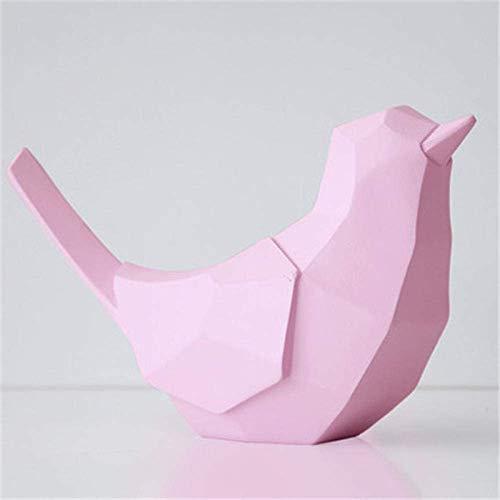 LYMUP Geometría Pájaros Dinero Bancos Estatua Origami Animal Bank Hucha Resina Craftalía Decoración del hogar Accesorios for Sala de Estar