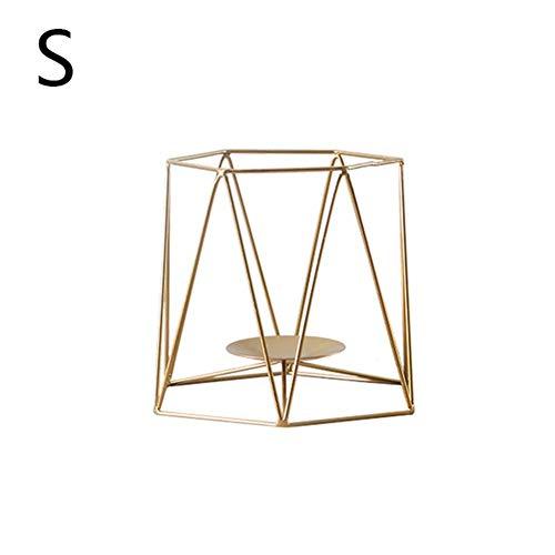 Remote.S Kandelaar van ijzer Nordic stijl metalen kandelaar geometrisch voor bruiloft slaapkamer tafeldecoratie podiumartikel