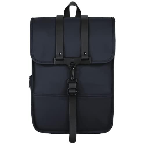 Hama Laptoprucksack 15.6 Zoll, 40 cm (Laptoptasche für Damen und Herren, leichter Rucksack aus wasserabweisendem Material, Tasche mit Tabletfach, verstellbaren Schultergurten, Trolleyband) blau