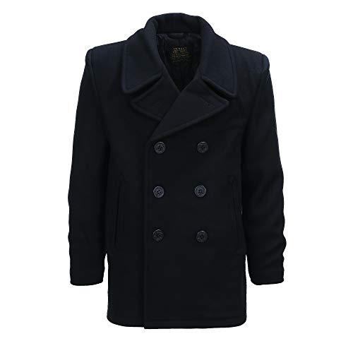 Fostex Garments, Cappotto in lana Doppiopetto US Navy Deck Jacket Pea Coat Marina Americana (S)