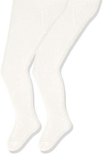 Sterntaler Pack de deux Collants pour bébés, Âge: 0-2 Mois, Taille: 56, Blanc /Beige