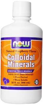 Now Foods Colloidal Minerals, Natural Rasberry Flavor, 32-Ounce(Flavor: Raspberry|Size: RASPBERRY, 32 OZ)