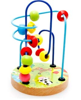 ML Juegos de Laberintos de Madera Infantil ,Cuentas Juguete Laberinto Madera Infantil Motricidad Fina Juguetes de Madera de Montessori para Niños Juguetes Niños 3 4 5 Años