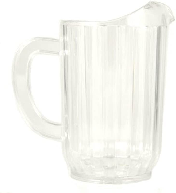 32 Oz Ounce Water Beverage Serving Pitchers Beer Pitcher Restaurant Grade Heavy Duty SAN Material Plastic Pitcher Clear