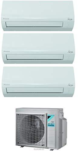 Climatizzatore Trial Split 9000 + 9000 + 12000 Btu, Inverter, Pompa di Calore - Daikin 3AMXF52A Siesta