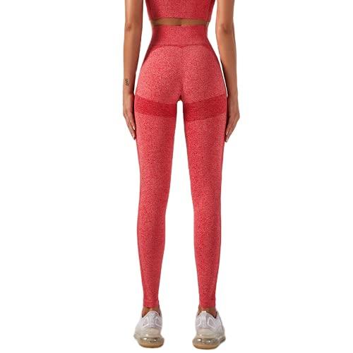 Pantalones de Yoga sin Costuras Medias de Fitness Anti-Sentadillas para Mujer Entrenamiento Abdomen Eliminación de Grasa Pantalones de Yoga Pantalones de Fitness C S