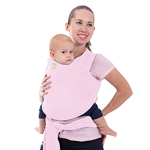 Baby Wrap Carrier - All in 1 Stretchy Baby Sling - Baby Carrier Sling - Baby Carrier Wraps - Baby Carriers for Newborn, Infant - Baby Holder Straps - Baby Slings - Baby Sling Wrap (Sweet Pink)