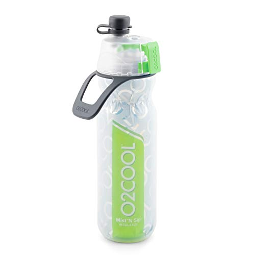 O2COOL ArcticSqueeze Insulated Mist 'N Sip Squeeze Bottle 20 oz., Green