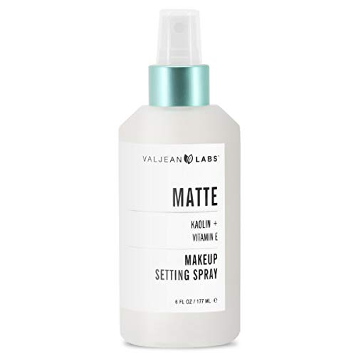 Valjean Labs Matte Makeup Setting Spray, Koalin + Vitamin E White