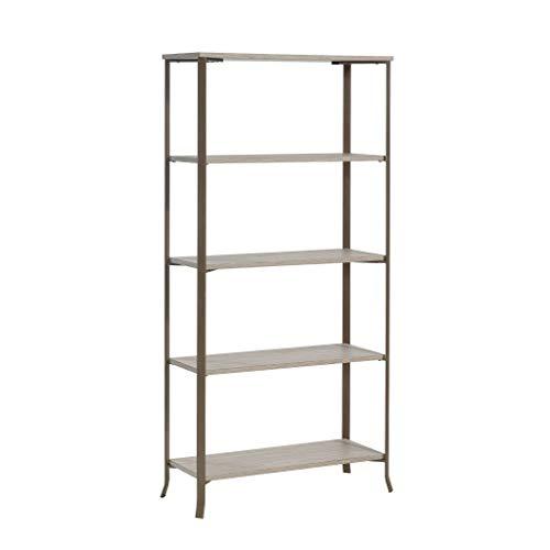 Sauder 425658 Center City 5 Shelf Bookcase, Champagne Oak