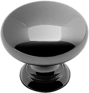 25 Pack - Cosmas 4950BN Black Nickel Cabinet Hardware Round Mushroom Knob - 1-1/4