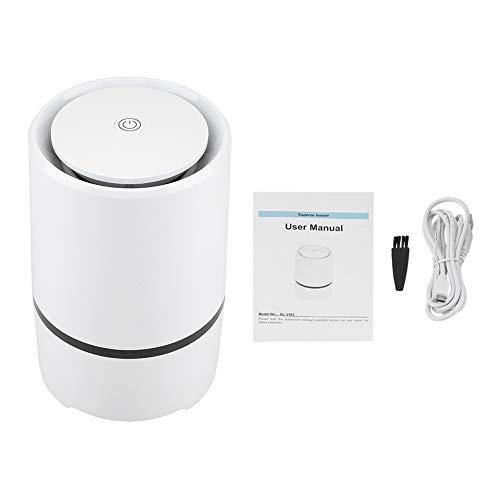 Qkiss USB-luchtreiniger Hepa-filtergeur-eliminator voor stofverwijdering in kantoor aan huis Auto-luchtreiniger Schimmel, stof, pollen