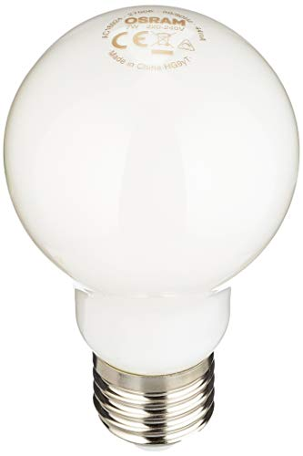 Osram, Lampadina a filamento LED, Forma classica, E27, Dimmerabile,7,5W = 60W, 220-240 V, Satinato, Bianco caldo 2700 K.