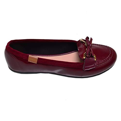 Sapato Feminino Mocassim Moleca Vinho