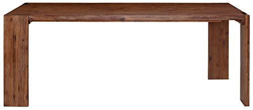 Loft24 A/S Esszimmertisch Esstisch Holztisch Küchentisch Landhaus Massivholz Magnus aus Akazie massiv 160x90 cm 180x90 cm 200x100 cm (braun, 220 x 100 cm)