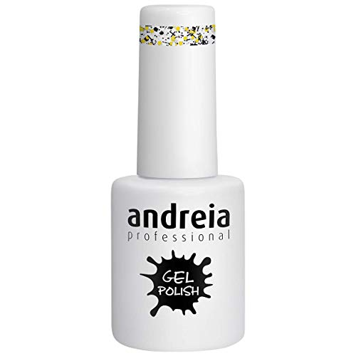 Andreia Esmalte de Uñas de Gel Semipermanente - Color 250 Brillo Oro - Sombras de Amarillo - 10,5 ml