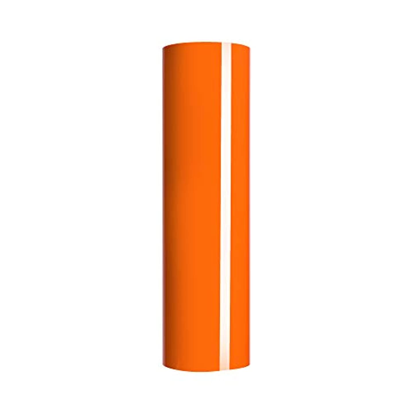 Orange Heat Transfer Vinyl,PU HTV Iron-on Vinyl Heat Transfer Vinyl Roll for T-Shirts 、Idea Fabrics or Heat Press Machine 0.8x5ft (Orange)