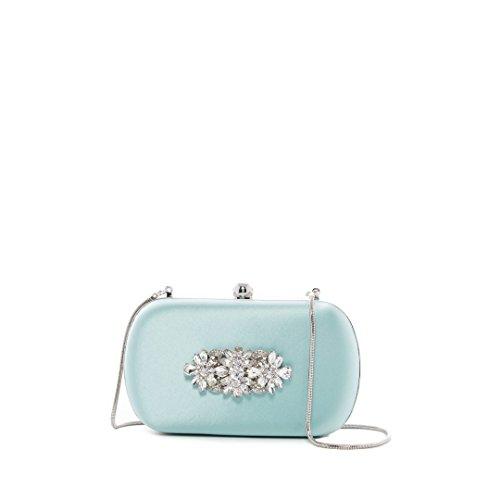 Badgley Mischka Crystal Embellished Clutch, BLUE RADNC