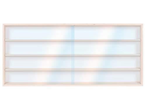 V100.4- Vitrine murale 100 x 39 x 8,5 cm collection Décoration murale collection Décoration Miniature Meuble Rangement étagère Armoire Placard Bois Nature Moto collecteur Tableau affichage Train