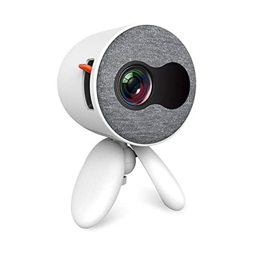 EXEDSCEND LED Home Mini Projector, Pantalla Smartphone Sincronizada con proyector WiFi, proyector portátil de Alta definición de 1080p, Reproductor de Medios portátiles para niños,Blanco,US Plug