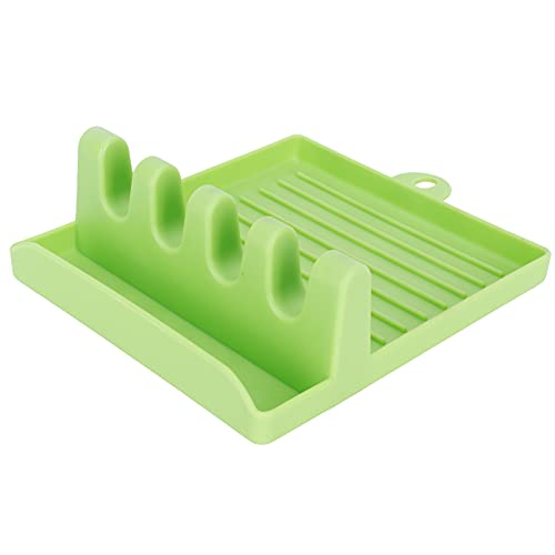 Organizer Rack, Durable Save Space Non‑Slip Bottom Lid Rack for Utensils Storage(Green)