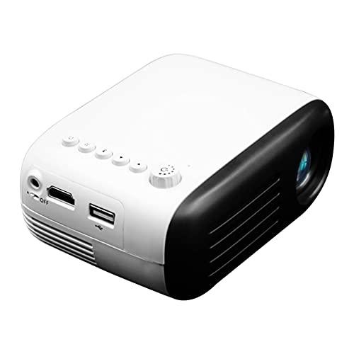 Mini proyector, proyector de video Proyector de películas al aire libre 4500L, proyector de cine en casa portátil LED 1080p y 60 'compatible, compatible con PS4, PC a través de HDMI, VGA, TF, AV y USB
