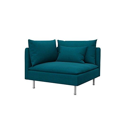 Soferia - IKEA SÖDERHAMN Funda para módulo de Esquina, Elegance Turquoise