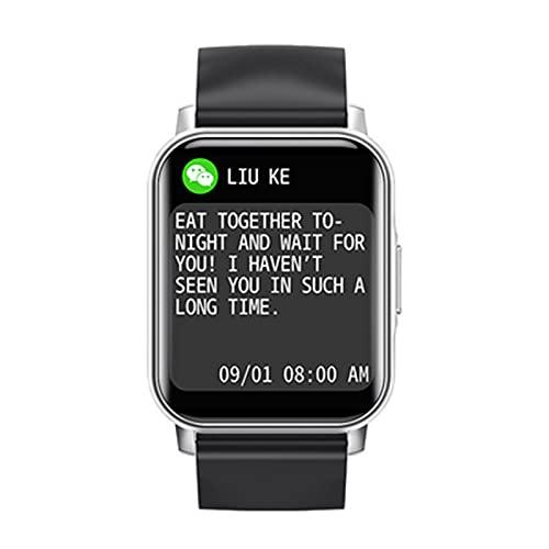 Reloj Inteligente Pantalla táctil de 1,72 pulgadas,smartwatch Impermeable Actividad,Podómetro para Android iOS,Tracker Fitness Reloj,con Pulsómetro Monitor de Sueño(Size:un tamaño,Color:astilla)