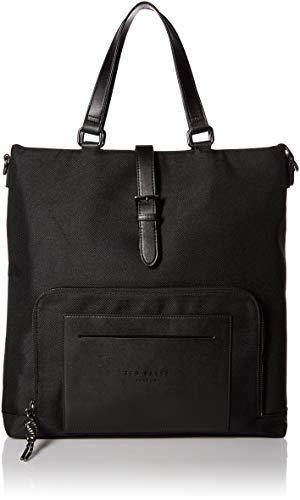 Ted Baker Men's TIDEE Nylon Tote Backpack, black, O/S