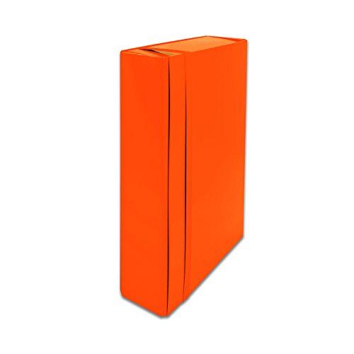 Euro-Cart IRIS Cartella Portaprogetti con Elastico Piatto, formato b.25 x h.35 x dorso 5 cm, Arancio