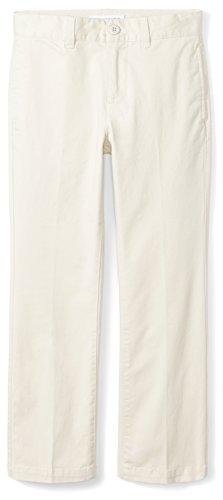 Amazon Essentials Straight Leg Flat Front Uniform Chino Pant Pants, Khaki Chiaro, 5(S)