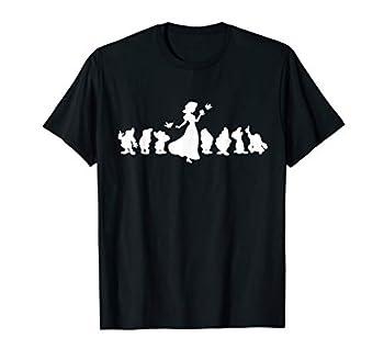 Disney Snow White and The Seven Dwarfs White Silhouette T-Shirt