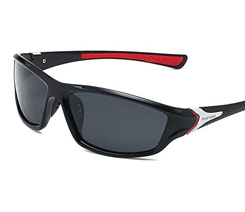 AILINSHA Gafas de Sol polarizadas Deportes Gafas polarizadas Hombres Ciclismo al Aire Libre Gafas Anti-UV Mirror Mirror Sun Visor Goggles Red