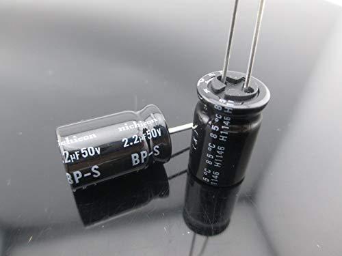 2pcs Nichicon GB 3.3uf 50v 3.3mfd BP-S Speaker Network Audio Capacitor