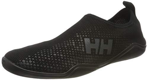 Helly Hansen Crest Watermoc, Zapatillas Impermeables para Hombre, Negro (Black/Charcoal 990), 47 EU