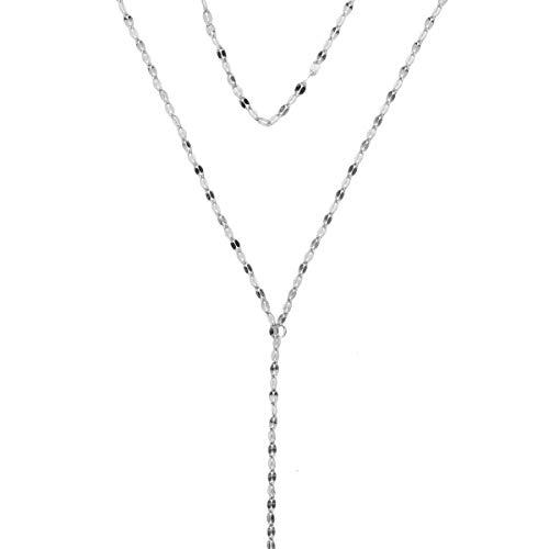 Zoeca - Halskette - mehrlagige Kette - 925 Silber - Nickelfrei - Layer Look (silber)