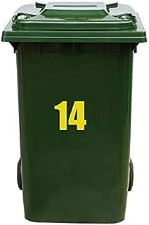 Kliko Sticker/Vuilnisbak Sticker - Nummer 14-21 x 17 - Geel