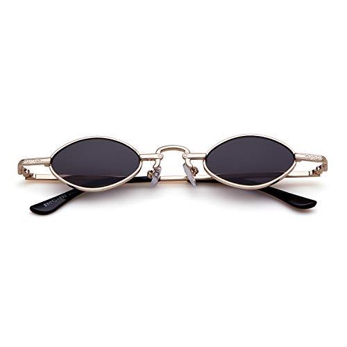 ADEWU Gafas de sol pequeñas ovales Gafas vintage retro para mujeres hombres