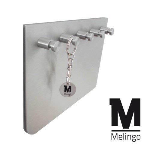 Melingo Edelstahl Schlüsselbrett Schlüsselleiste, asymmetrisch