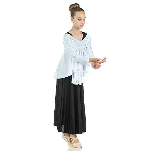 Danzcue Mädchen-Pullover, Engelsflügel, Drapey - Weiß - Small/Medium