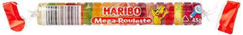 Haribo Mega-Roulette, Ositos de Goma, Gominolas, Gomitas de Fruta, 40 Rollos de 45 g (1.8 KG)