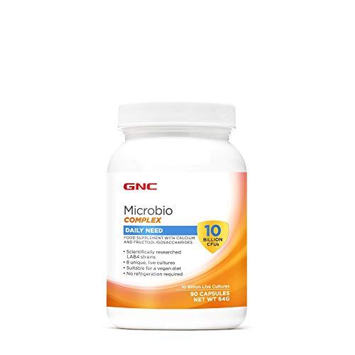 GNC Microbio Complex Daily Need mit 10 Milliarden KBE, 90 Kapseln, unterstützt die Verdauung und die Gesundheit des Immunsystems