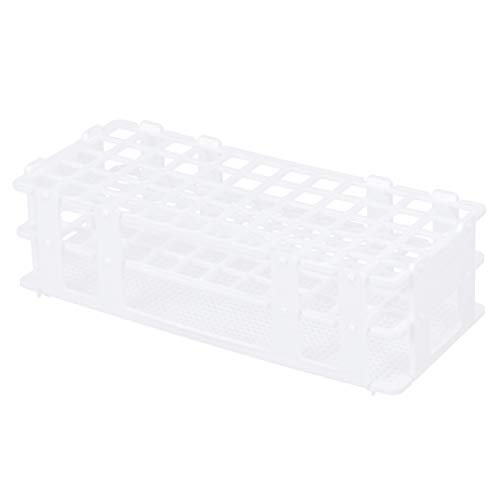 Artibetter 1 Stk. Reagenzglasgestell aus Kunststoff für 16-mm-Röhrchen 60 Well weiß abnehmbar