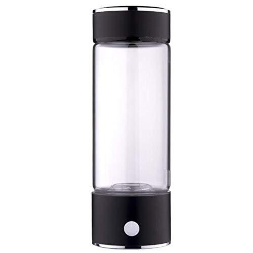 U/K Botella de Agua Rica Rica de hidrógeno portátil de 3 Minutos Alto-concentración Generador de hidrógeno Vidrio Taza de Agua Anti-envejecimiento Alcalino Generador de Agua 420ml (Color : 2)