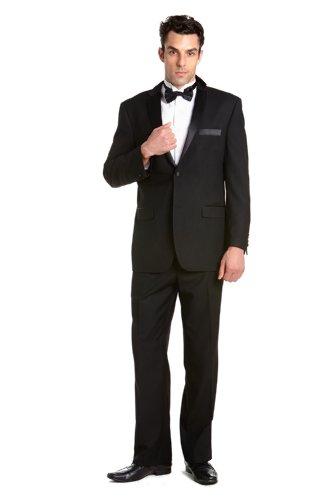Fair Game Plaid Tux Tuxedo Long Sleeve T-Shirt-Black-Large