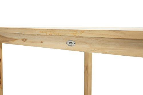 Ploß Ploß Gartentisch Pittsburgh Eco - Teakholz-Tisch mit SVLK-Zertifikat - Terrassentisch für 4 bis 6 Personen - Esstisch Braun für den Garten - Holz-Gartenmöbel mit polierter Oberfläche
